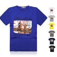 Free shipping men's fashion cotton o-neck short-sleeve shirts slim causal sports T-shirt plus size tops tee