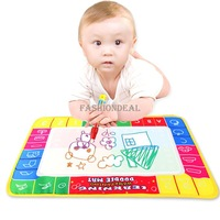 2014 New learning & education 45 x 29cm Water painting Toys Mat /Water Drawing Board /Baby Play mat With 1 Magic Pen 19383