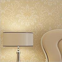 Wholesale Non Woven flocking 10m Damask Europe Pattern Wallpaper Rolls,Bedroom.Living Room