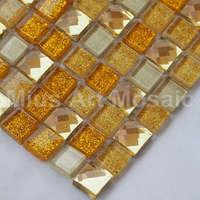 [Mius Art Mosaic] Diamond gold mirror glass mosaic glass tile kitchen tile B7HP-1013