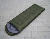 Spring and autumn envelope sleeping bag adult outdoor sleeping bag thermal thickening hooded sleeping bag
