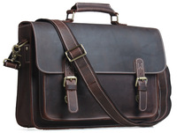 Free shipping Cowhide Leather Men Messenger Bag Briefcase Laptop Shoulder Bag New Arrival Tiding 1099