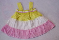2014 New Summer  Girl Dress Baby Pure100Cotton Handwork Embroiders Dress Export to AU Wholesale 6pcs/Lot Size12M,18M,2T,3T,4T,5T