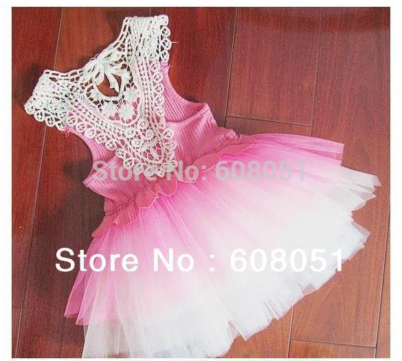 Retail new 2013 baby girls lace dress child kids princess wedding party dresses summer fashion clothes top quality(China (Mainland))