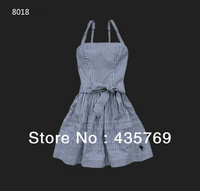 2014 new free shipping summer women cotton brace dress ladies fashion dress striped dress