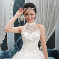 2014 New design bride wedding dress formal dress halter-neck bride dress Freeshipping
