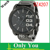 HK post free shipping fashion Wristwatch DZ4207 for men stainless steel strap  watch +original box