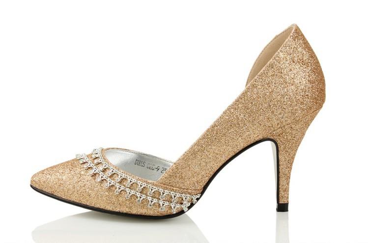 zapato novia color champan: