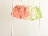 free shipping Wholesale 2014 summer new fashion girls high quality lace princess style Beige shorts girl shorts
