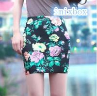 2014 Elastic Waist Girl Skirt Print Pencil Women's Skirt W3303