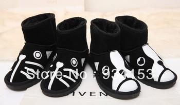 Yang indah dan manis beku sepatu boots pendek sepatu datar salju