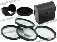 58 MM Macro Close Up Filter Lens Kit +1 +2 +4 +10 Petal Flower Lens Hood  + Lens Cap For  for Canon Rebel T5i T4i T3i T3 T2i XSi