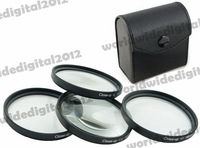 55mm Macro Close-Up +4 + 10 Lens Filter For  Sony A33 A35 A55 A65 with 18-55mm 55-200mm Petal Flower Lens Hood  Filter Kit