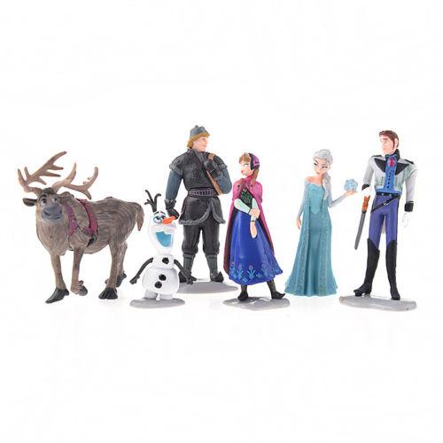 Frozen Figure Play Set Anna Elsa Hans Kristoff Sven Olaf 6pcs set classic toys(China (Mainland))