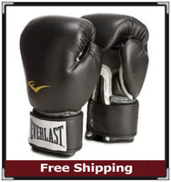 Top Quality Cakes EVERLAST Boxing Gloves For Men and Women Sanda Fists /Ventilation Type / 8-16 Ounces Black/Blue/Red/Pink