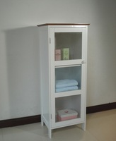 Wooden Standing Cabinet with Single Glass Door,HC-042