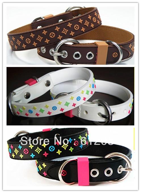 Collare di cane da compagnia cucciolo collare pvc moda star pattern marrone blackwhite prodotti per animali domestici spedizione gratuita ingrosso 20pcs/lot moq