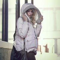 New Arrival Women Fashion Long Sleeve Zipper Winter Coat Parkas with Hat Free Shipping yn157