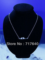 Handmade charm silver lover birds chain necklace For Women, 6Pcs/lot!, Min Order $10.0,Free Shipping