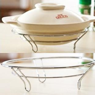 Modern Furniture 28 bag high quality circle stainless steel bowl rack pot rack multifunctional shelf supplies q268(China (Mainland))