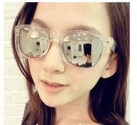 Free shipping  run Star style sunglasses mercury mirror reflective sunglasses 2013 sun glasses female