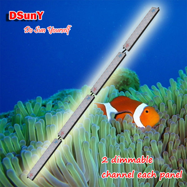 DSunY 240cm/8ft/ 96inch for special huge tank with no fan design full spectrum dimmable led aquarium light(China (Mainland))