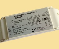 1-10V Dimmer Switch 12W 120-240VAC 1A LED Constant Voltage Dimmable Driver for LED Strip/4W MR16/7W MR16/10W MR16