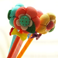 Creative novelty fashion Plush fabric ballpoint pen flower ballpoint pen  10pcs