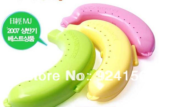 3pcs/lot Free Shipping Banana Guard Container Storage Pack Lunch Box Fruit Protector Plastic Box Banana Case(China (Mainland))