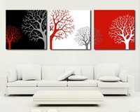 3 Piece Free Shipping Hot Sell Modern Wall Painting  Home Decorative Art Picture Paint on Canvas Prints The trees 1