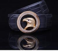 mens women gold diamond leopard hawk duckle belt Brand Europ style BUSINESS quality well HOT SALE COWSKIN  Retail wolesale