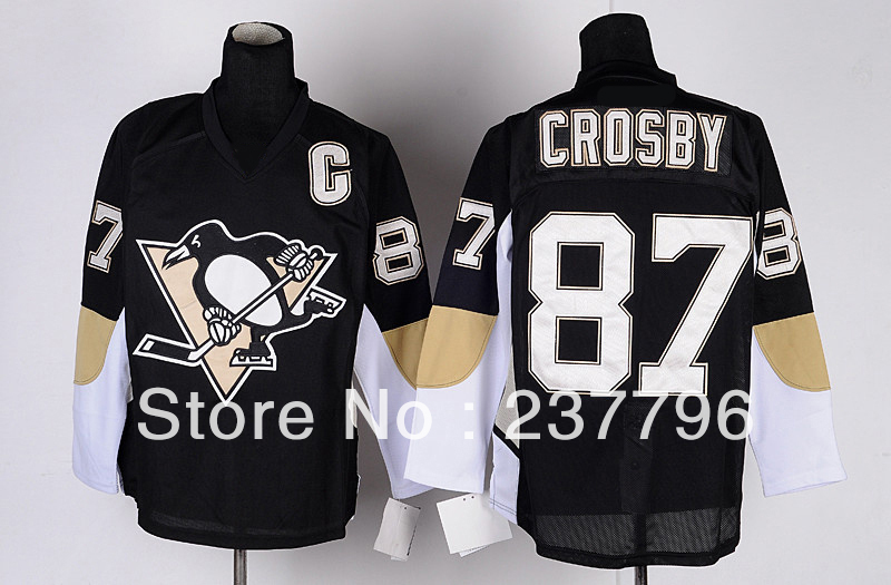 Cheap Youth Pittsburgh Penguins Jerseys #87 Kids Sidney Crosby Jersey Ice Hockey Children Home Black Best Stitched Free Shipping(China (Mainland))