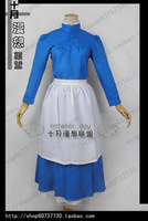 Anime cos Customize sophie cosplay long design maid  costumes