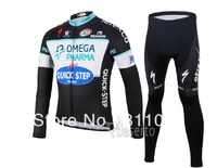 2014 Quick.Step Team Maillot Cycling Jersey Long Sleeve And  Pants Road Bike Jackets Skinduit Bicycle Clothes Sets