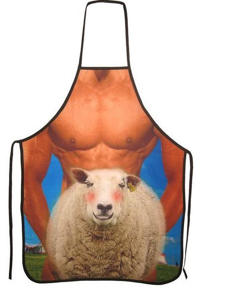 M014 Fun Sheep Shagger BBQ Funny Sexy Novelty Apron Hen Stag Joke Gift Free Shipping(China (Mainland))