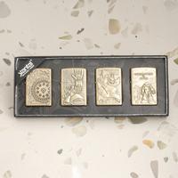 Jiantai kerosene, bronze lighter ii wheel firetone open flame male personalized gifts