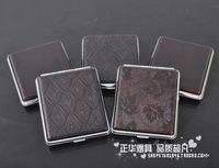 Hj leather cigarette case personalized 603 18 belt rubber band gift box set