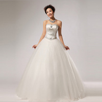 2014 New Arrival Crystal Off The Shoulder Ball Gown Wedding Dress HS260