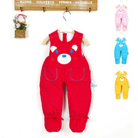 Children's clothing winter baby trousers baby child male female child suspenders cotton trousers m2009