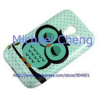 Lovely Cartoon OWL Soft TPU Gel Owl Case Shell for Samsung Galaxy Ace Plus S7500 guard protector