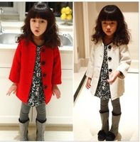 Fashion wools coats for girl autumn and winter wholesale and retail with free shipping