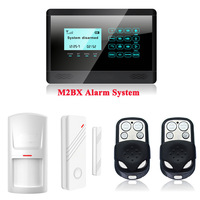 P356 M2BX Wireless GSM SMS TEXT Touch Keypad Home House Alarm System Touch Screen Sensors with Built-in Internal antenna