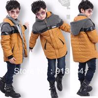 new 2013 autumn winter jacket children outerwear baby clothing child wadded jacket baby boys thick warm imitation leather coat