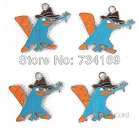 Free shipping 50 pcs Perry the Platypus Agent P Jewelry Findings Metal Charms DIY Jewellery