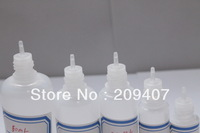 Free shipping 5ML PE Bottle with child proof caps Lot 3500 Pcs E-cig OIL New Design Long Thin Tip