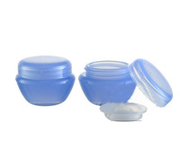 Mushroom Shape Jar 5g Mini Cream Jar Cosmetic Container Plastic Jar Light Blue
