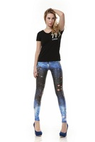 Free Shipping 2013 New Design Best Quality Sexy Galaxy Leggings Fantastic Blue Space Print Leggings for Women