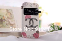 Wholesale new design diamond Stained Christmas gift leather case for iPhone 5 cases for iPhone 5s case AC122