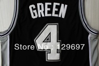 Free Shipping,#4 Danny Green  Blackwhite Basketball jersey,Embroidery logos,Size 44-56  Can Mix