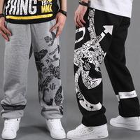 DF-05  Autumn winter Hip hop pants Basketball Sports pants Loose trousers men jogger pants sport outdoors Sweat pants Clothing